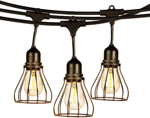 patented! Industrial Cage commercial string light